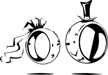line art - wedding rings design