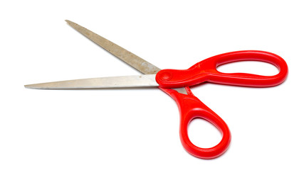 Scissors red Isolated on white background
