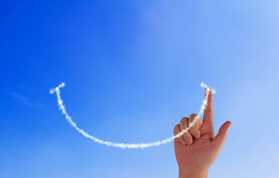 Happiness Concept Background Positive Attitude
