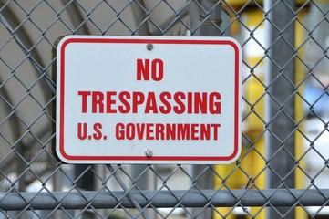 U.S. Government No Trespassing Sign