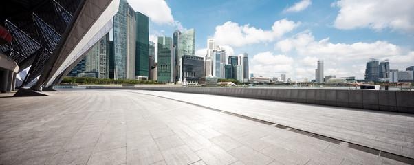 Fotomurales - empty floor with modern buildings