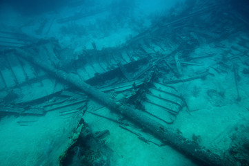 Old part of wreck ship