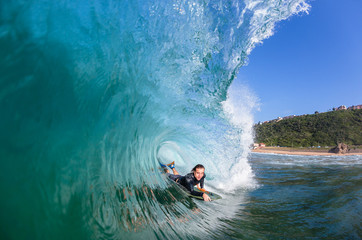 Surfing Surfer Wave Tube Ride