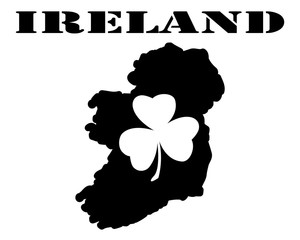 Symbol of   Ireland and maps