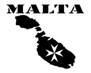 Symbol of Malta and maps
