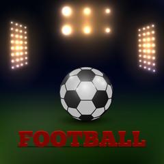 Soccer field with scoreboard stadium, vector illustration
