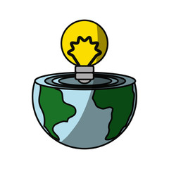 isolated care of the planet icon vector illustration graphic design