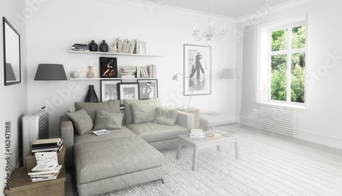 Bücher Im Wohnzimmer, Einrichtung Und Dekoration (Gestaltung)
