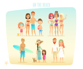 Wall Mural - People on the beach/