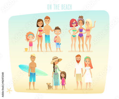 Wall mural People on the beach/