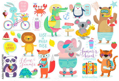 Wall mural Animals hand drawn style