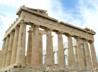 The Parthenon, Ancient Greek Temple Dedicated to Goddess Athena, on the Acropolis of Athens, Greece