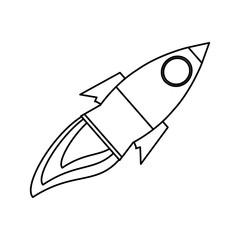 isolated big rocket icon vector illustration graphic design