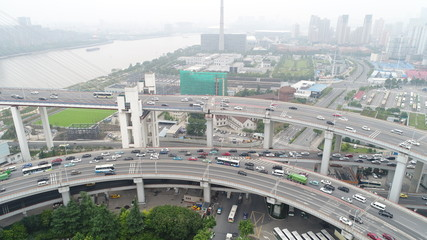 上海 Shanghai highway traffic money china busy noisy car cross roop