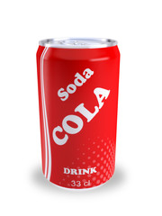 canette soda cola rouge