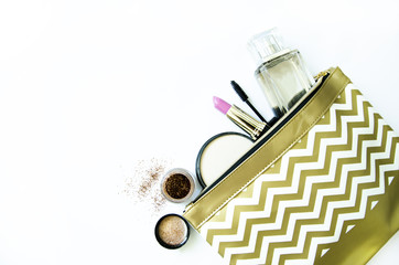 make up cosmetics in purse