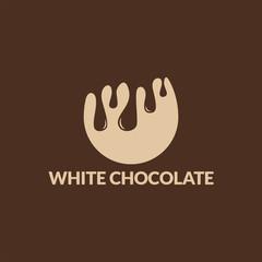 White Chocolate Logo template designs vector illustration