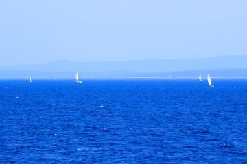 Sailing on Adriatic sea in Croatia
