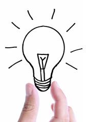 Light bulb sktech