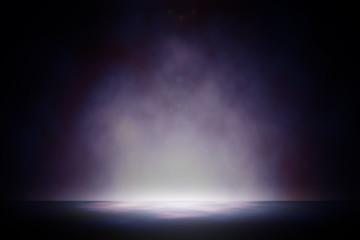 Spotlight on universe studio entertainment background.