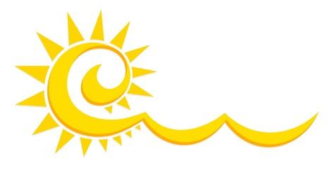 Stylized sun Logo.