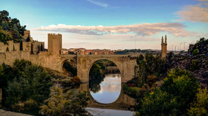Alcantara bridge in Toledo