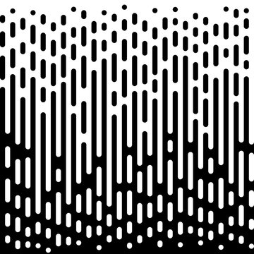 Vector Halftone Transition Abstract Wallpaper Pattern.
