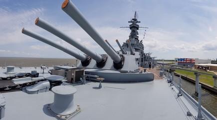 Heavy Turrets - cannons aboard Warship USS Alabama