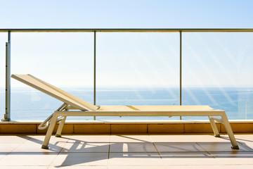 sun lounger in a balcony