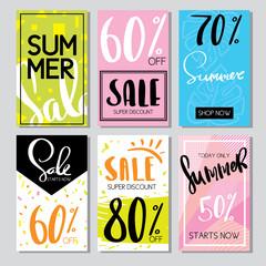Hand drawn design promotional banner templates illustrations for website and mobile websit