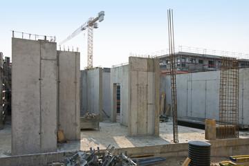 construction site concrete works