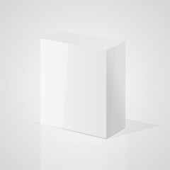 White box in studio. Vector illustration.