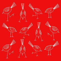 Cartoon birds pattern.