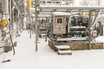 Propane compressor operates in winter conditions in the open air