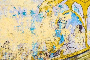 historische Wandmalerei aus indien