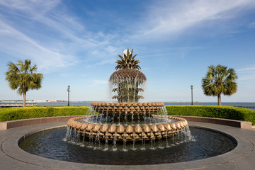 Pineapple Water Fountain in Charleston, SC