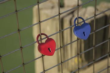 Lovel locks on Harwich Pier, Essex, England