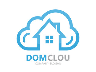 cloud and house logo concept