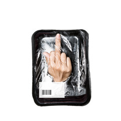 human meat under frozen packaged