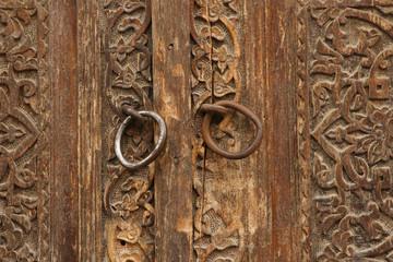 carved wood old door