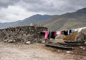 Streets of  Xinaliq, village of Azerbaijan