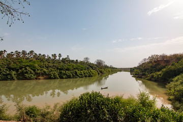 The Gambia River in Niokolo-Koba National Park, Senegal