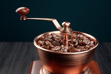 Retro manual coffee grinder