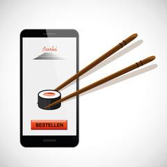 sushi aus smartphone