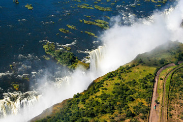Victoria Falls on the border between Zimbabwe and Zambia, Africa