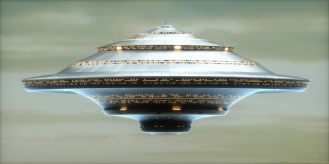 UFO Alien Spaceship / Clipping Path Included