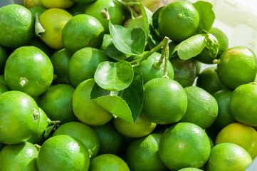 Lime background, Green fresh limes.