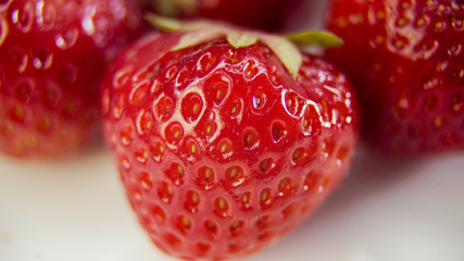 Strawberry close-up plan
