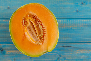 Fresh organic cantaloupe melon