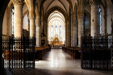 Saint Elisabeth parish church (katholische elisabehkirche) in Vienna, Austria. Interior